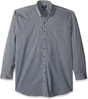 Men's Big & Tall Long Sleeve Anchor Gingham Button Up Shirt