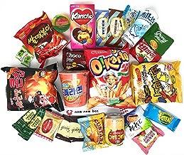 Squaredino: Ultimate Korean Snack Box (25 Count) - Variety Assortment of Korean Snacks, Chips, Cookies, Candies