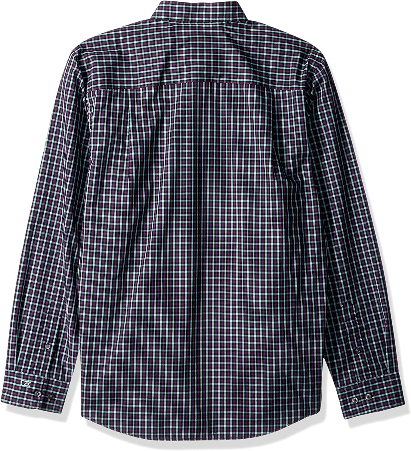 Cutter & Buck Men's Medium Plaid and Check Easy Care Button Down Collared Shirts