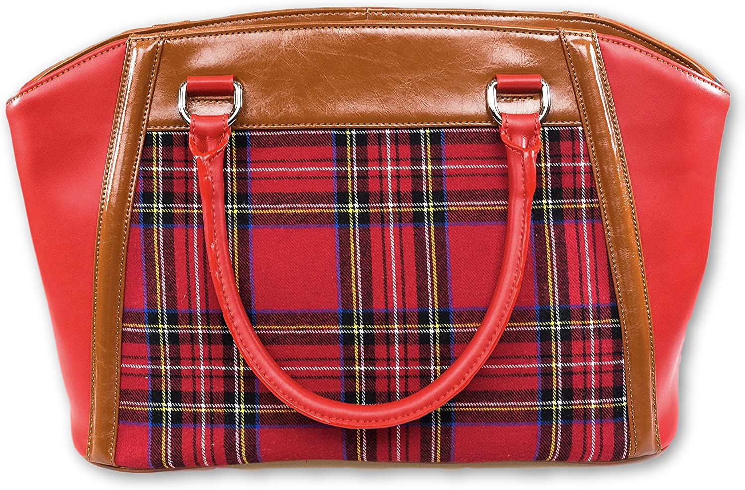 AMMA JO Tartan Leather Shoulder Bag
