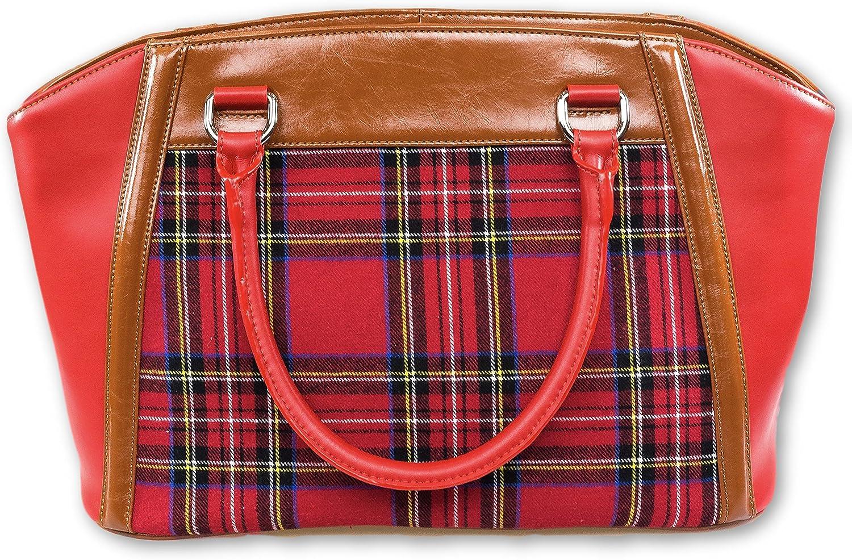 AMMA JO Tartan Leather Shoulder Bag