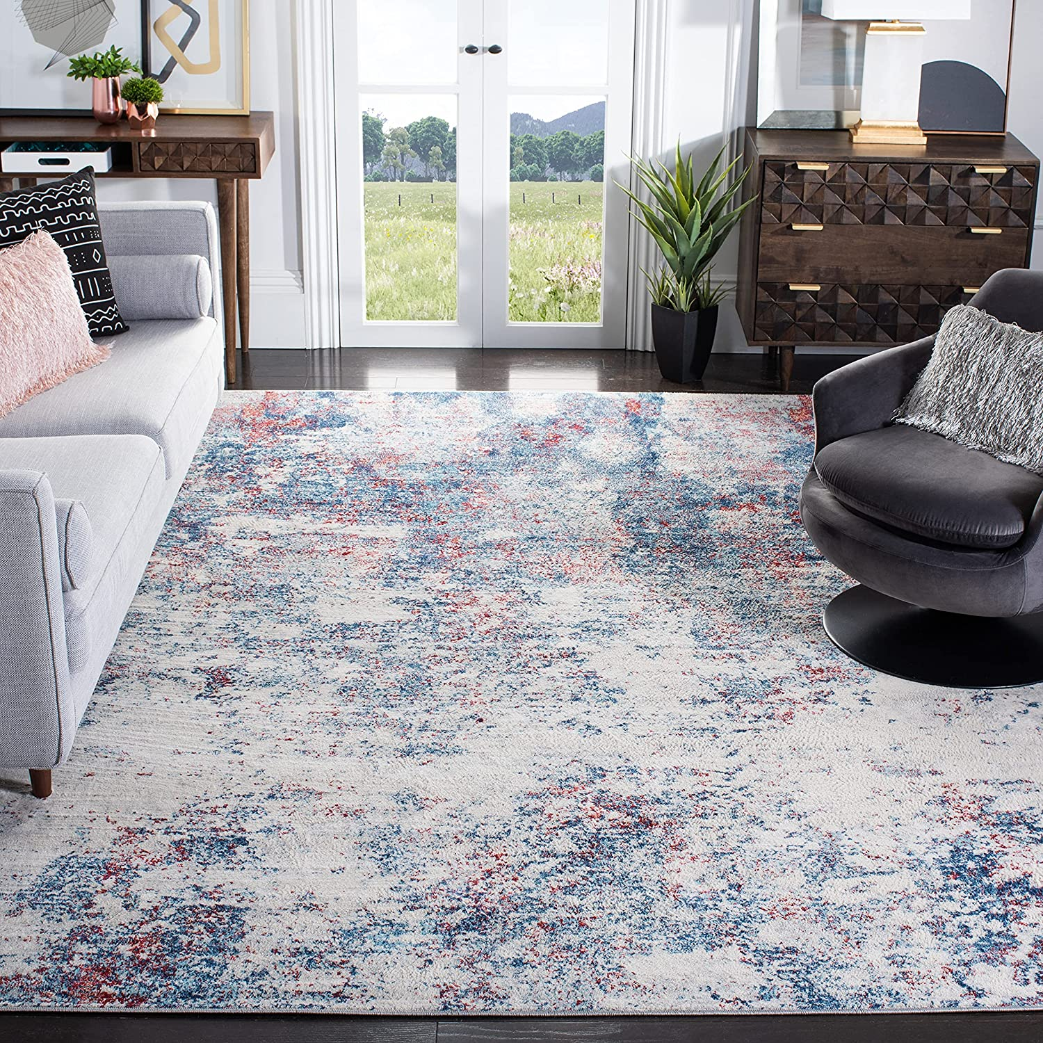 Safavieh Brentwood Collection BNT822N Sale Non-Sheddi Abstract Max 40% OFF Modern