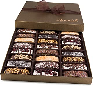 Barnetts Biscotti Cookies Gift Basket / Christmas Gourmet Holiday Chocolate Food / Unique Idea For Him or Her Corporate Gi...