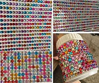 486 St/ück Strasssteine Selbstklebend Acryl Bunt Selbstklebende Schmucksteine Verschiedene Formen Crystal Edelstein zum Aufkleben 6 Bl/ätter. Unique Store Glitzersteine Selbstklebend