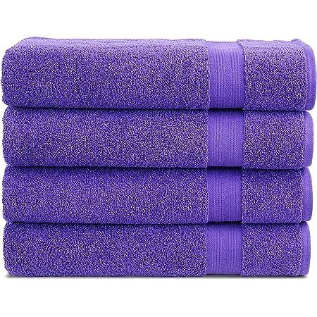 Luxury Extra Large Big Towels Z /& T Set of 3 Soft Cotton Towels 90cm x 170cm Purple