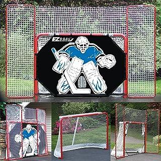 EZ Goal Folding Hockey Training Goal Net w/ Backstop, Targets, & Shooter Tutor