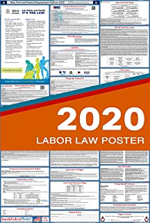 2020 New York Labor Law Posters (Laminated) All-in-One State and Federal Approved, OSHA Compliant Vertical 27