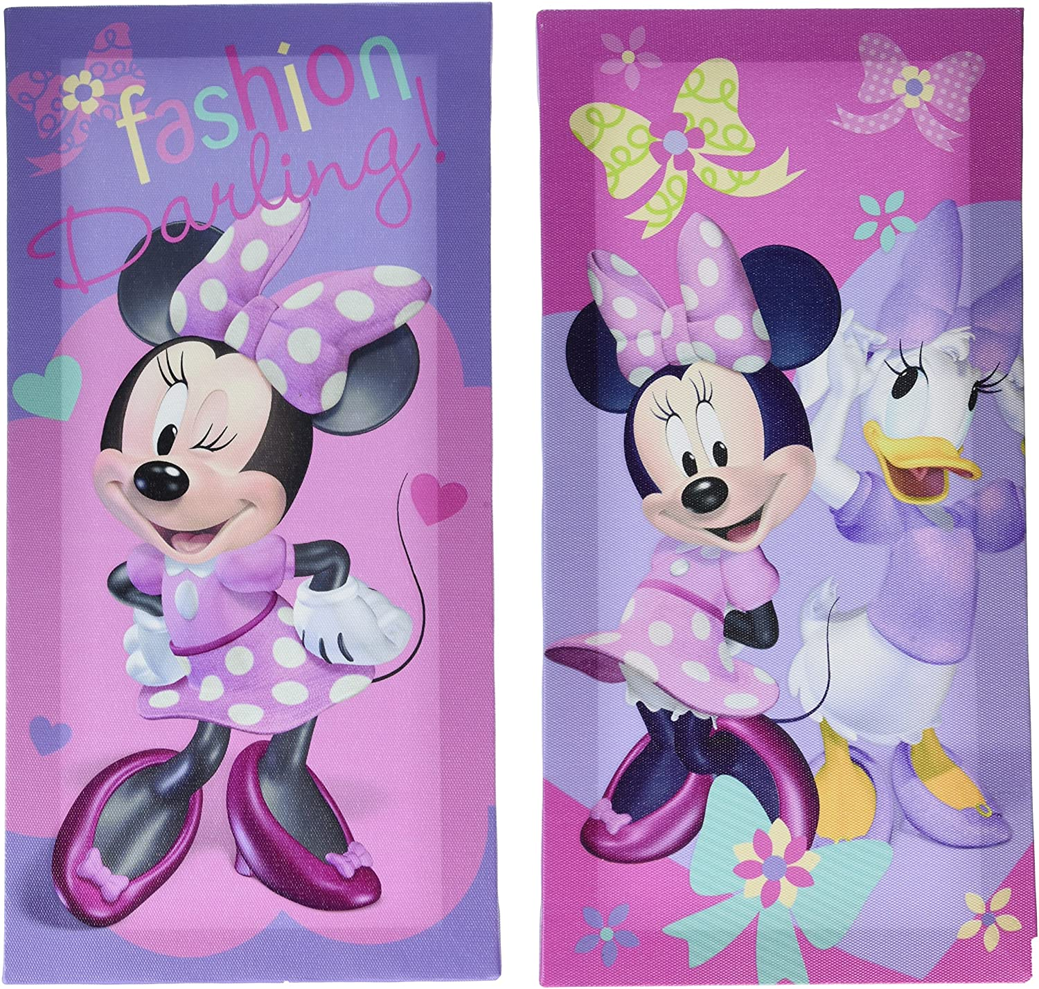 Disney Minnie Sales for sale Mouse 4 years warranty Canvas Wall Art 2 x 14 7 Pack