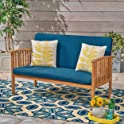 Christopher Knight Home Grace Outdoor Acacia Wood Loveseat