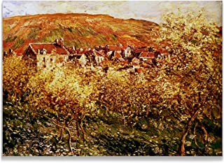 Monet Wall Art Collection Apple Trees in Blossom Canvas Prints Wrapped Gallery Wall Art | Stretched and Framed Ready to Hang 24X32,