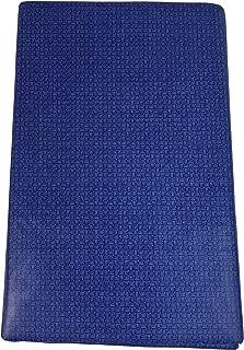 Summer Fun (Elrene) Blue Mini Weave Vinyl Umbrella Hole Tablecloth with Zipper (70