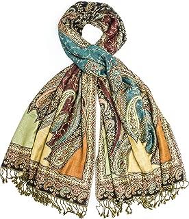 Hana Reversible Cashmere Silk Pashmina Scarf, hand made in Nepal