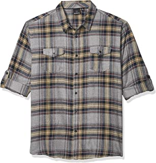 Men's Yarn-Dyed Long Sleeve Flannel Shirt