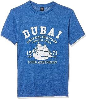 Dubshi Dubai T-shirt for Men IndigoBlue/White D04