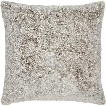 Amazon Brand – Stone & Beam Modern Soft Faux Fur Throw Pillow - 20 x 20 Inch, Grey