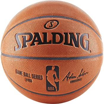 Spalding NBA Indoor/Outdoor Replica Game Ball by Spalding: Amazon ...