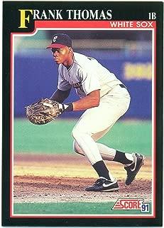 1991 Score Lot of 10 Frank Thomas #840 Chicago White Sox - Hall of Fame - HOF - Baseball Card