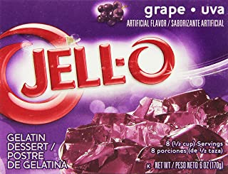JELL-O Grape Gelatin Dessert Mix (6 oz Box)