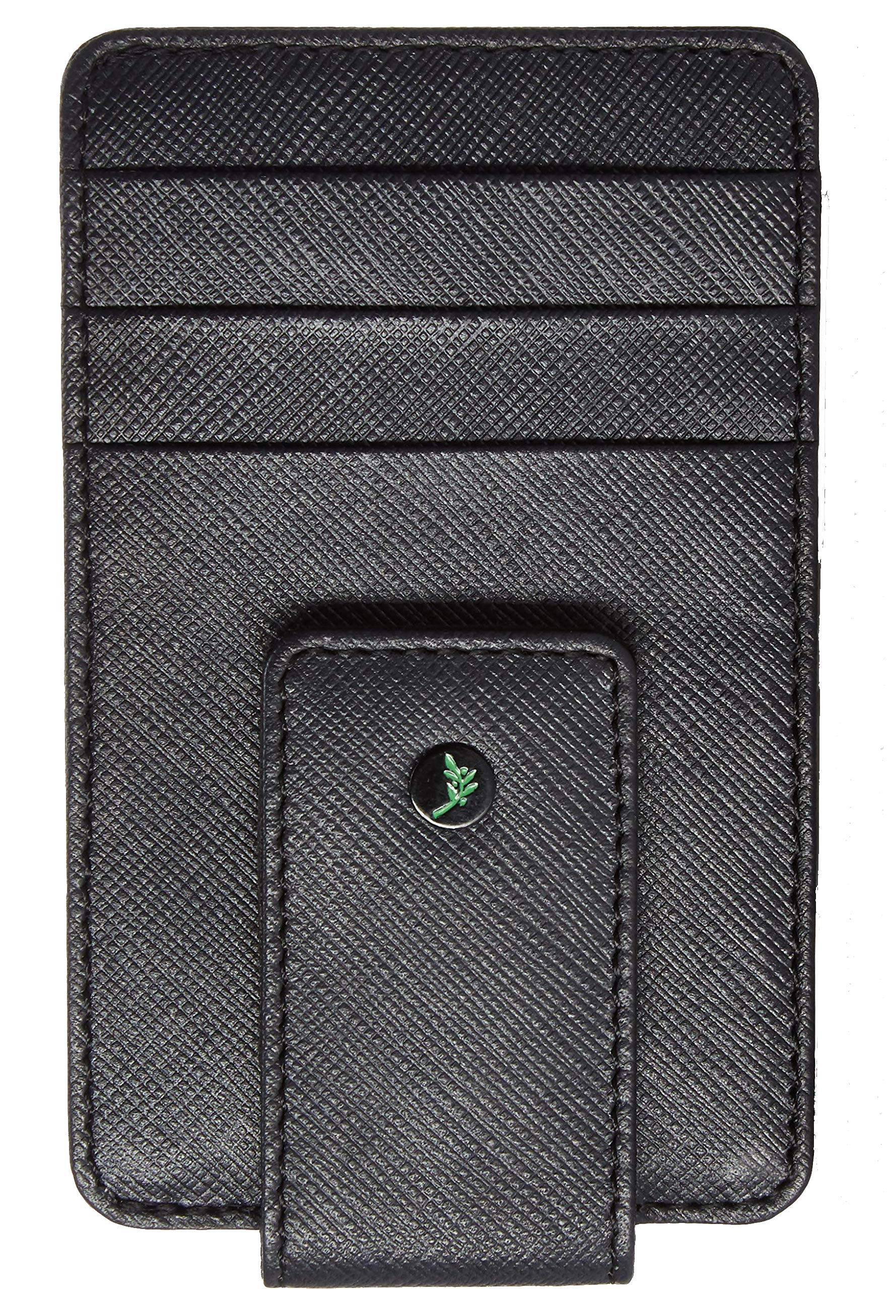 Dark Brown Front Pocket Money Clip RFID Blocking Wallet Gift Set