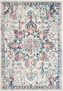 Safavieh Tapis Moderne Chic Tressé Collection Madison Crème/Bleu 61 x 91 cm