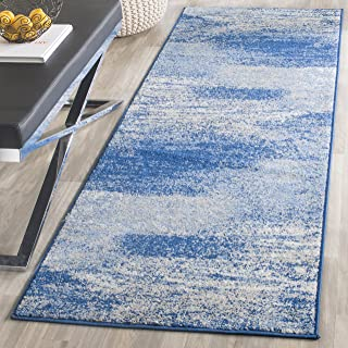 Safavieh Adirondack Collection ADR112F Silver and Blue Modern Abstract Runner (2'6