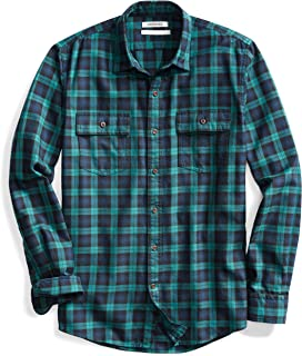 Amazon Brand - Goodthreads Men's -Fit Plaid Twill Shirt