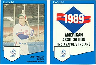 1989 ProCards Indianapolis Indians Minor League Team Set Larry Walker Montreal Expos - Baseball Card