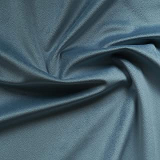 Solid Drapery/Upholstery Soft Velvet Fabric Color Aqua Blue by The Yard