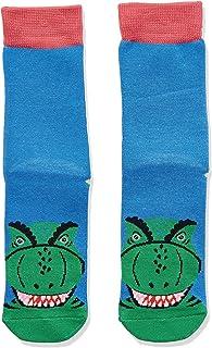 Joules Eat Feet Character Socks - Blue Dino