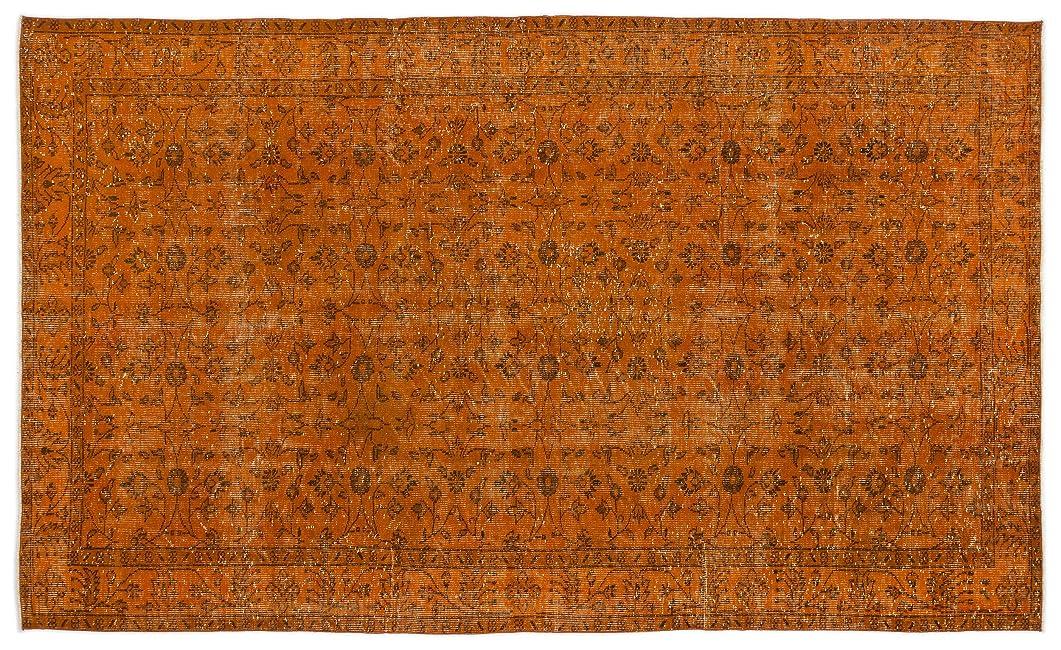 人に関する限り熱降伏Bespoky ビンテージ 手織 ラグ オレンジ 大きいサイズ 172 X 288 Cm