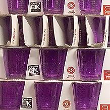 Confezione di 3 BICCHIERINI in vetro colorato VIOLA per liquore bar caffè Cerve Picnic