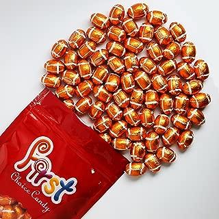 FirstChoiceCandy Milk Chocolate Foil Wrapped Balls (Footballs, 1 LB)