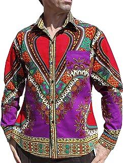 Raan Pah Muang Funk Workers Shirt African Dashiki Festival Long Sleeve Euro Collar