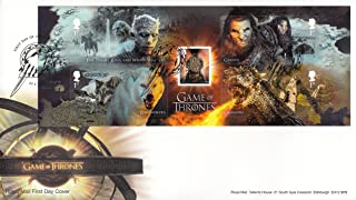 Royal Mail Game of Thrones Stamp Sheet Souvenir Collectible Postage Stamps First Day Cover