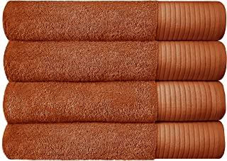 Set of 4 - JINAMART Premium Soft Bath Towels 100% Cotton with 650 GSM   Maximum Softness & Highly Absorbent Quick Dry  Gym...