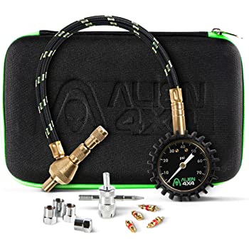 Alien Sunshade Tire Deflator - 0-75psi Tire Air Pressure Release Kit - Accurate & Fast Air Down Tool – Includes Case & Offroad Accessories - Quickly Deflate Jeep, Truck, SxS, ATV, RV Tires