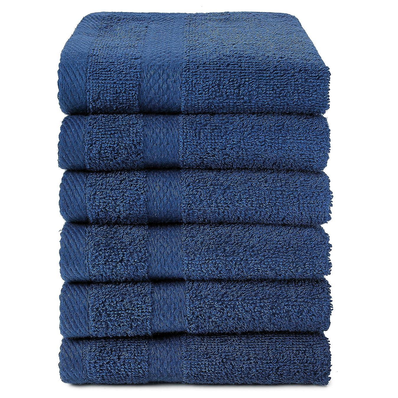 千第囲むRoyal Ocean 100?%コットンextra-absorbentテリーWashcloths、12のセット ブルー O-TS-W1313-12-N