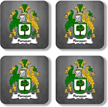 Flanagan Coat of Arms/Family Crest Coaster Set, by Carpe Diem Designs – Made in the U.S.A.