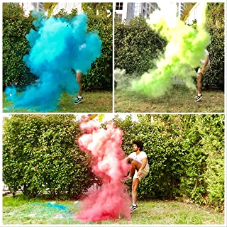 Giftable Things Gender Reveal Soccerball - Exploding Soccerball - (3 Color Soccerball with Pink & Blue & Green)- Family Unlimited Fun Pack - Bigger Size Balls with Extra Powder - Creates Huge Puff!