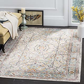 Safavieh Aria Collection Abstract Area Rug, 9' x 12', Cream/Blue