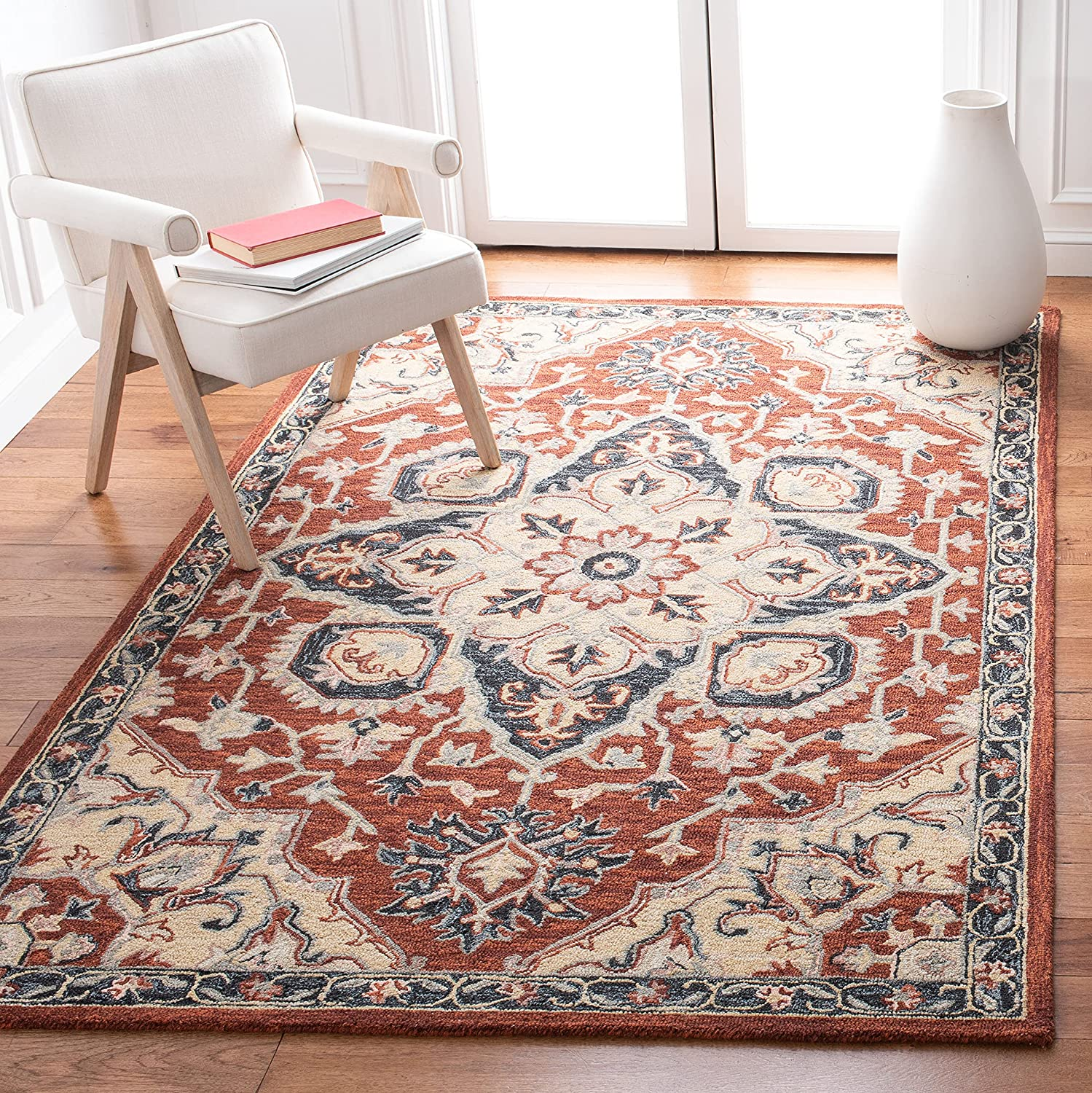 Fees free!! Safavieh Heritage Collection HG922Q Orienta Handmade shop Traditional
