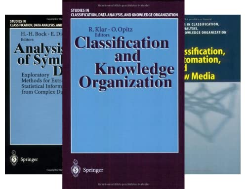 Studies in Classification, Data Analysis, and Knowledge Organization (40 Book Series)