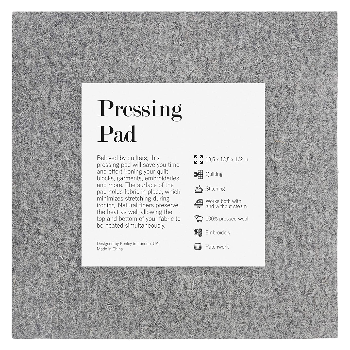Kenley Wool Pressing Mat for Quilting - 13.5