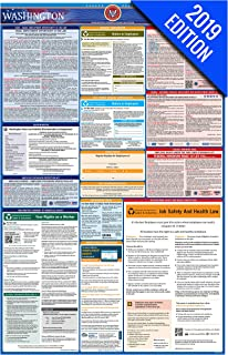 2019 Washington Labor Law Poster – State, Federal, OSHA Compliant – Single Laminated Poster