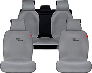 Sojoy Four Seasons Universal Full Set of Car Seat Cushion Covers Advanced Material TOP of The LINE Breathable Fabric (Gray)