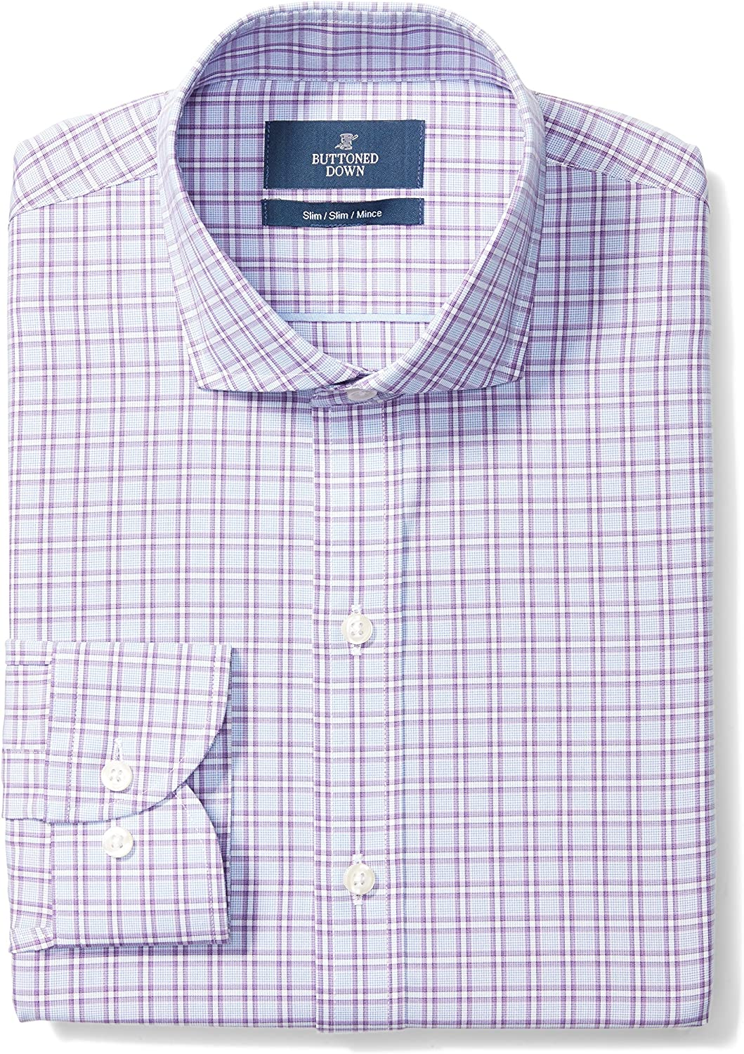 Buttoned overseas Down Men's Slim Fit Dress Challenge the lowest price of Japan Pattern Collar Cutaway Shirt