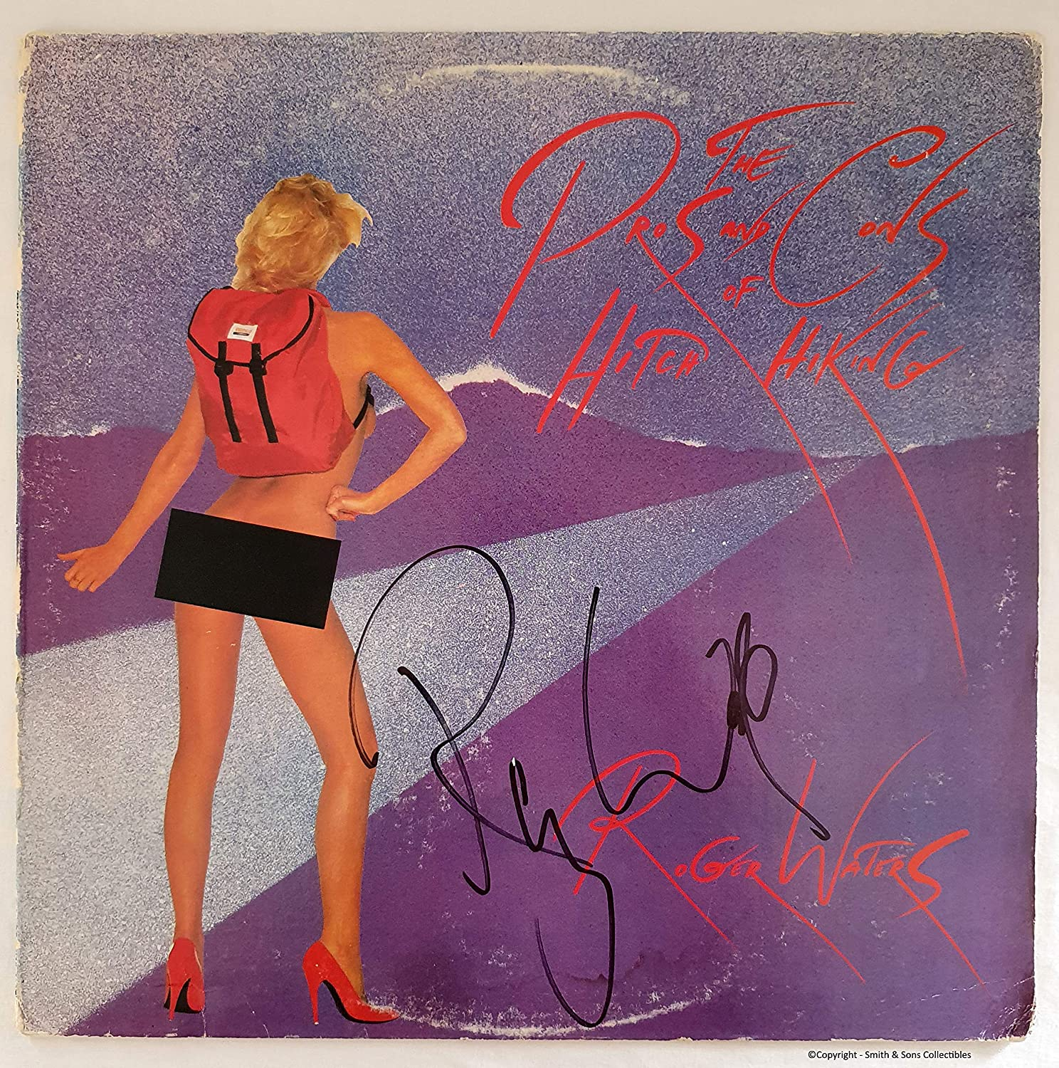 Roger Waters Autographed 'Pros and COA Cons' National products #RW22564 excellence LP
