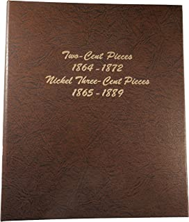 Dansco US Two Cent Piece 1864 - 1872 and Nickel Three Cent Piece 1865 - 1889 Coin Album #6108