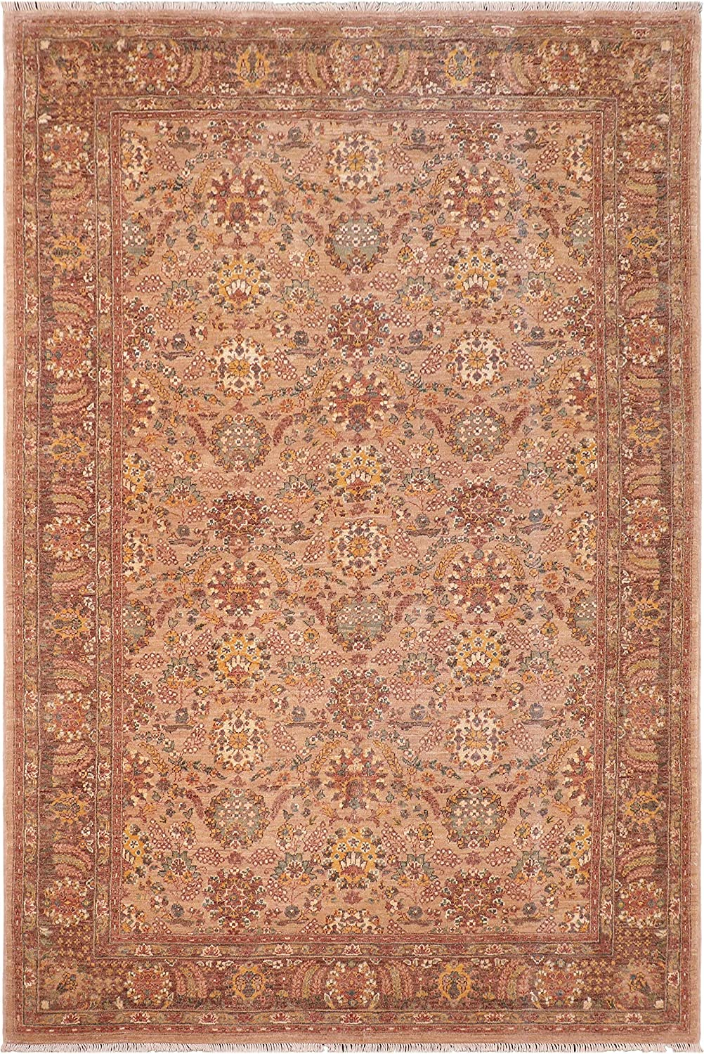 Shabby Chic Ziegler Leandra Tan Brown Wool 2021 spring and Austin Mall summer new x - 6'3'' Rug 9'4''