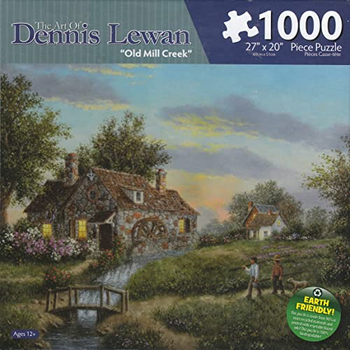 Old Mill Creek By Dennis Lewan 1000 Piece Puzzle
